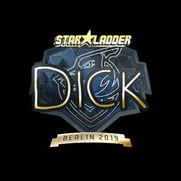 Наклейка | DickStacy (золотая) | Берлин 2019