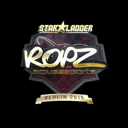Наклейка | ropz (золотая) | Берлин 2019