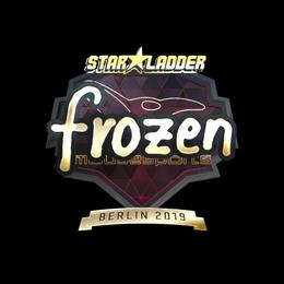 Наклейка   frozen (золотая)   Берлин 2019