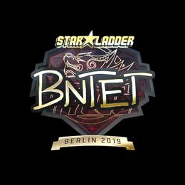 Наклейка | BnTeT (золотая) | Берлин 2019