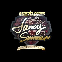 Наклейка | Summer (золотая) | Берлин 2019