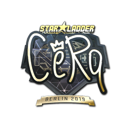 Наклейка | CeRq (золотая) | Берлин 2019