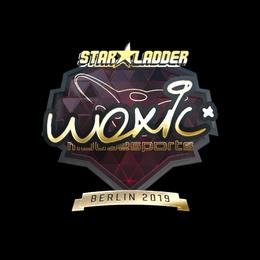 Наклейка   woxic (золотая)   Берлин 2019