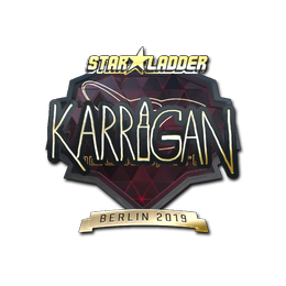 Наклейка   karrigan (золотая)   Берлин 2019