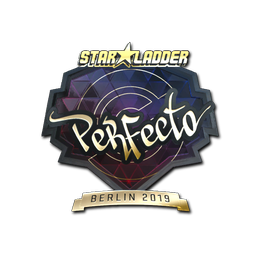 Наклейка | Perfecto (золотая) | Берлин 2019