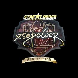 Наклейка | xsepower (золотая) | Берлин 2019