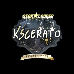 Наклейка | KSCERATO (золотая) | Берлин 2019