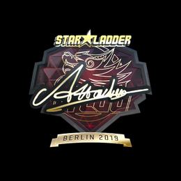 Наклейка   Attacker (золотая)   Берлин 2019