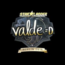 Наклейка | v4lde (золотая) | Берлин 2019