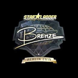 Наклейка | Brehze (золотая) | Берлин 2019
