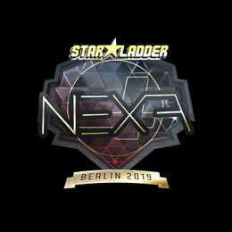 Наклейка   nexa (золотая)   Берлин 2019