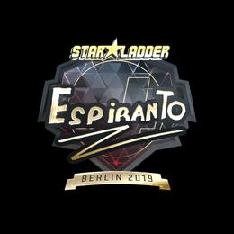 Наклейка | EspiranTo (золотая) | Берлин 2019