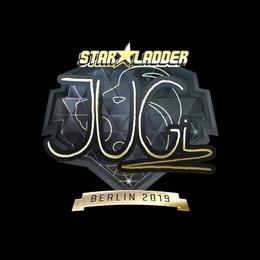 Наклейка | JUGi (золотая) | Берлин 2019