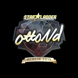 Наклейка | ottoNd (золотая) | Берлин 2019