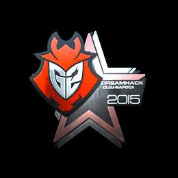 Наклейка   G2 Esports (металлическая)   Клуж-Напока 2015