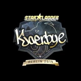 Наклейка | Kjaerbye (золотая) | Берлин 2019