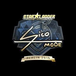 Наклейка | Sico (золотая) | Берлин 2019