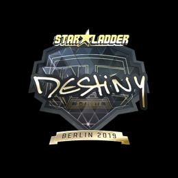 Наклейка | DeStiNy (золотая) | Берлин 2019