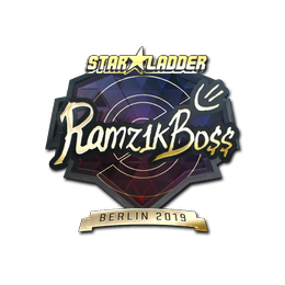 Наклейка   Ramz1kBO$$ (золотая)   Берлин 2019