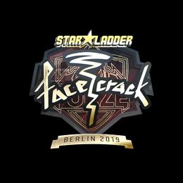 Наклейка | facecrack (золотая) | Берлин 2019