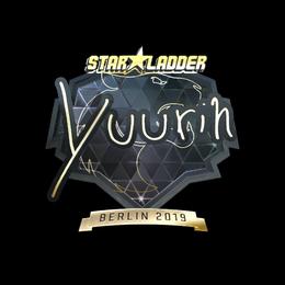 Наклейка   yuurih (золотая)   Берлин 2019