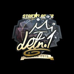 Наклейка   LETN1 (золотая)   Берлин 2019