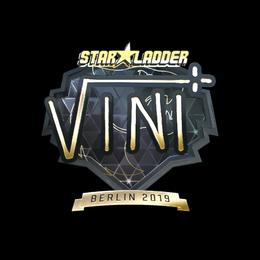 Наклейка | VINI (золотая) | Берлин 2019