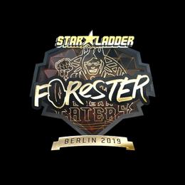 Наклейка | Forester (золотая) | Берлин 2019