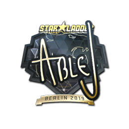 Наклейка | ableJ (золотая) | Берлин 2019