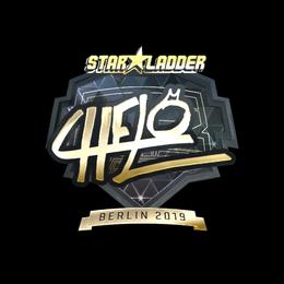 Наклейка | chelo (золотая) | Берлин 2019