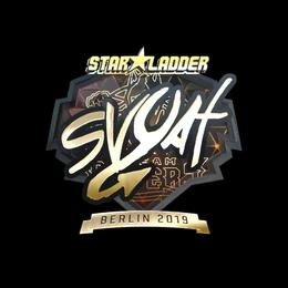 Наклейка | svyat (золотая) | Берлин 2019