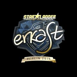 Наклейка | erkaSt (золотая) | Берлин 2019
