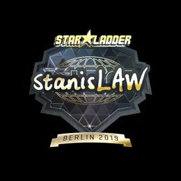 Наклейка | stanislaw (золотая) | Берлин 2019