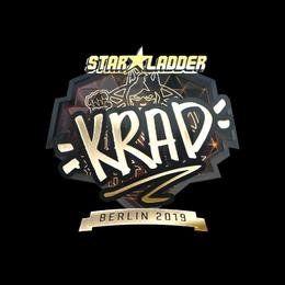 Наклейка | Krad (золотая) | Берлин 2019
