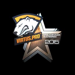 Наклейка | Virtus.Pro (металлическая) | Клуж-Напока 2015