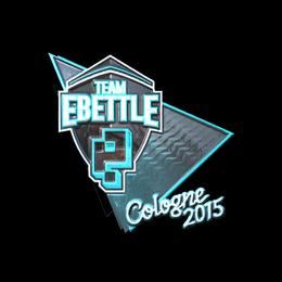 Наклейка | Team eBettle (металлическая) | Кёльн 2015