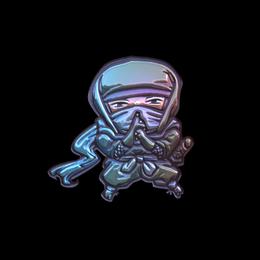Наклейка | Бесшумный ниндзя (металлическая)