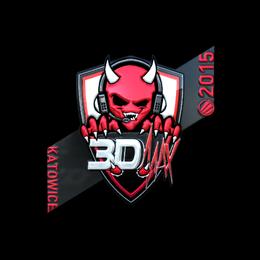 Наклейка | 3DMAX (металлическая) | Катовице 2015
