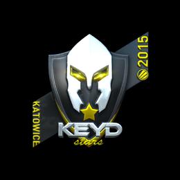 Наклейка | Keyd Stars (металлическая) | Катовице 2015