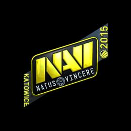 Наклейка | Natus Vincere (металлическая) | Катовице 2015