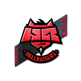 Наклейка | HellRaisers (металлическая) | Катовице 2015