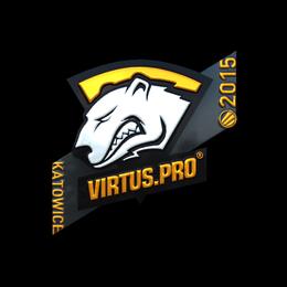 Наклейка | Virtus.pro (металлическая) | Катовице 2015