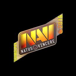 Наклейка | Natus Vincere (голографическая) | Катовице 2015