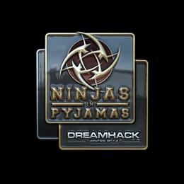 Наклейка | Ninjas in Pyjamas (металлическая) | DreamHack 2014