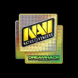 Наклейка   Natus Vincere (голографическая)   DreamHack 2014