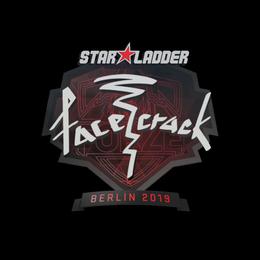 Наклейка | facecrack | Берлин 2019