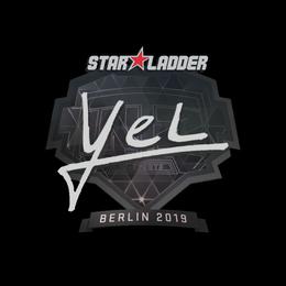 Наклейка | yel | Берлин 2019