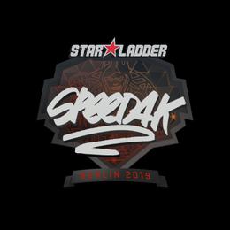 Наклейка | speed4k | Берлин 2019