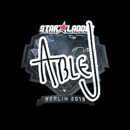 Наклейка   ableJ (металлическая)   Берлин 2019
