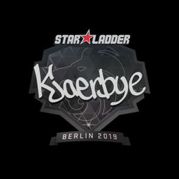 аклейка | Kjaerbye | Берлин 2019